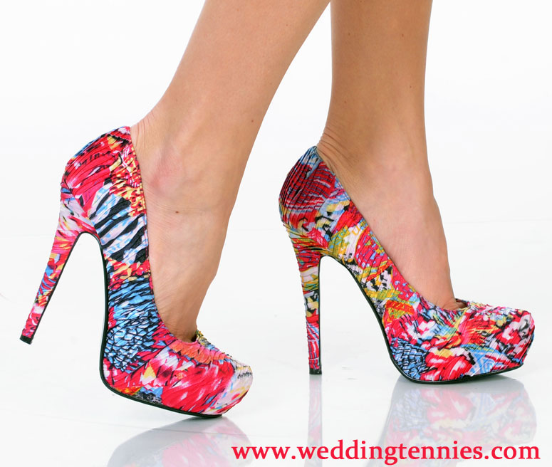 Multi-colored Fabric Pump fro Bridesmaids