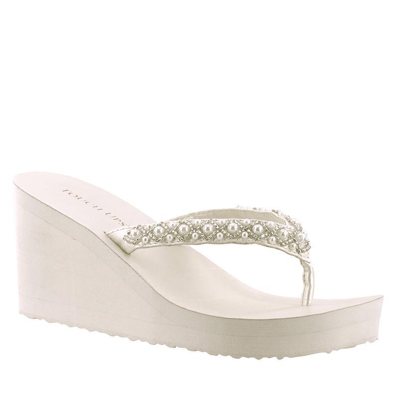 7174e92cb8 Bridal Flip Flops -- Comfortable Wedding Shoes
