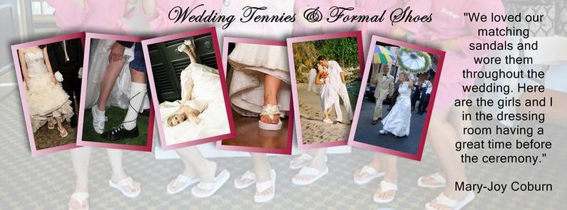 7f9b4aad3b3a Bridal Flip Flops and Wedding Tennies