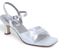 Comfortable Dyeable Satin Bridal Sandals  for weddings