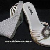 Super comfortable Sparkly Silver Wedge