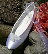Bridal Dyeable Satin Ballet Slippers Dyeable  for weddings