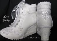 Wedding wedge tennis shoes