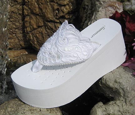 Bridal Flip Flops -- Comfortable